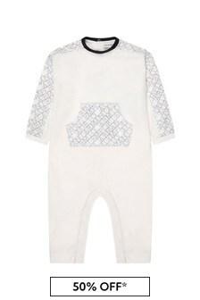 Emporio Armani Baby Boys White Babygrow