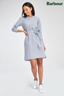 Barbour® Tartan Blue Pinstripe Lucie Shirt Dress