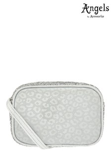 Angels by Accessorize Silver Leopard Glitter Across Body Bag