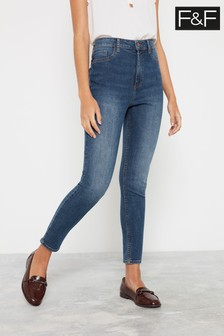 F&F Mid Wash Tube Dark Jeans