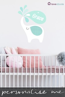 Personalised Elephant Wall Sticker by Loveabode