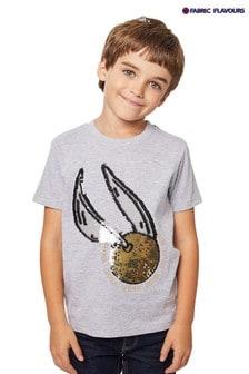 Fabric Flavours Harry Potter Flip Sequin Snitch T-Shirt