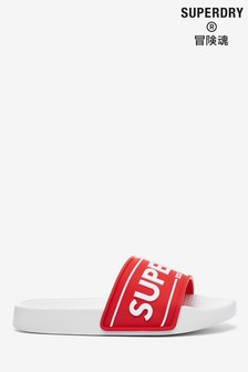 Superdry Red Chunky Sliders