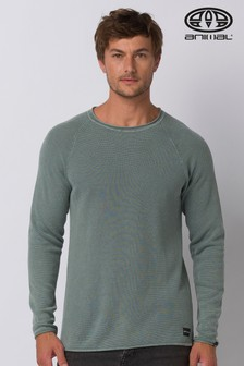 Animal Lead Grey Morris Knitted Jumper