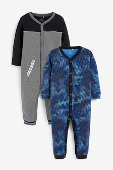 2 Pack Sporty Sleepsuits (0mths-2yrs)