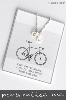 Personalised Bike Necklace by Studio Hop