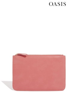 Oasis Pink Zipped Pouch
