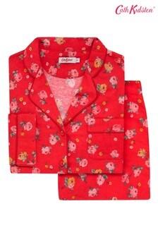 Cath Kidston® Red Wimbourne Rose Brushed Cotton Pyjama Set