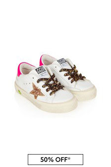 Golden Goose Kids Girls White Leather Trainers
