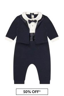 Bimbalo Baby Boys Navy Cotton Romper