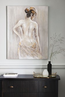 Картина с силуэтом женщины