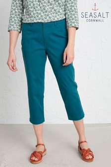 Seasalt Blue Albert Quay Cropped Trousers