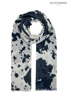 Accessorize Animal Cow Print Recycled Stole