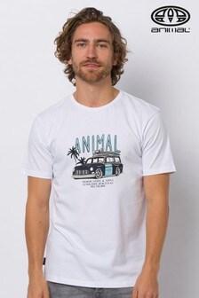 Animal White Trip Graphic T-Shirt