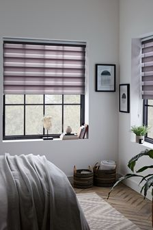 Grey Day And Night Roller Blind