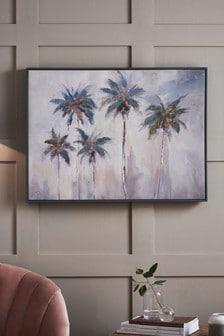 LA Palms Framed Canvas