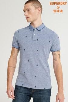 Superdry Blue Print Poloshirt