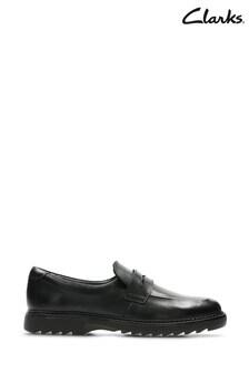 Clarks Black Asher Stride Shoes