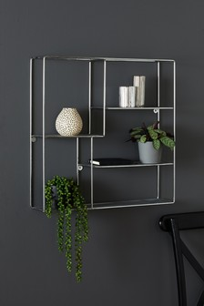 Metallic Square Shelf