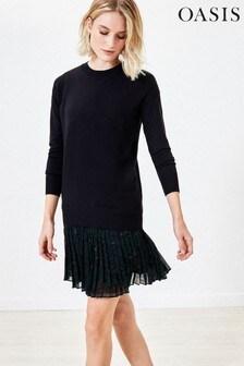 Oasis Black 2-In-1 Animal Jumper Dress