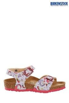 Birkenstock® Pink Unicorn Print Rio Sandals
