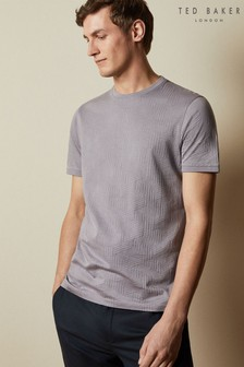Ted Baker Purple Twopee Textured T-Shirt