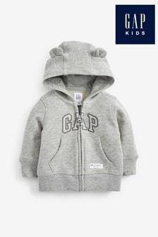 Szara bluza sportowa z kapturem Gap