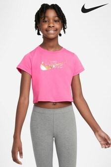 Nike Pink Cropped T-Shirt
