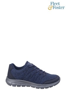 Fleet & Foster Blue Elanor Lace-Up Trainers
