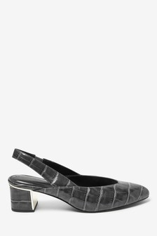 Almond Toe Slingback Shoes
