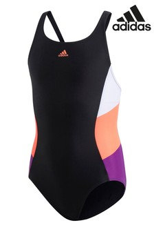 adidas Black Colourblock Swimsuit