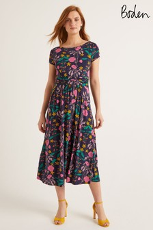 Boden Blue Faye Jersey Midi Dress