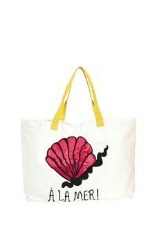 Kids Ivory Organic Cotton Beach Bag