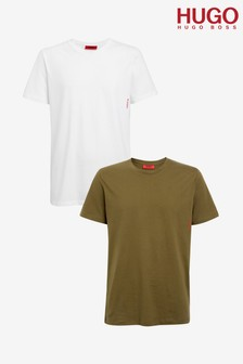 HUGO Green Vertical Logo T-Shirts Two Pack