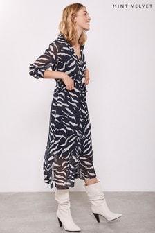 Mint Velvet Animal Nadine Multi Belted Dress