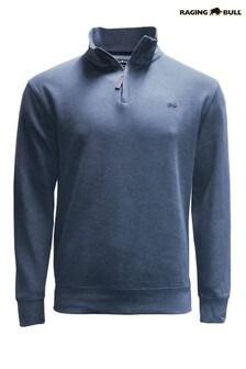 Raging Bull Blue Jersey 1/4 Zip Sweater