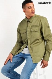 Timberland® Khaki Long Sleeve Overshirt