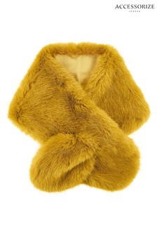 Accessorize Tan Faux Fur Tippet