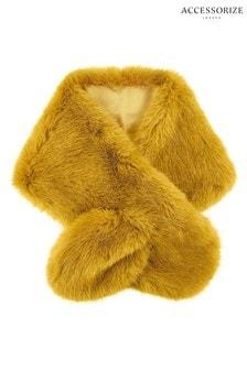 Accessorize Tan Faux Fur Tippet