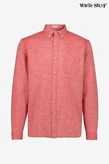 White Stuff Red Ainsdale Cotton Linen Shirt