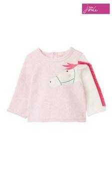 Joules Pink Dash Appliqué Sweatshirt