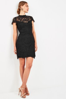 Placed Lace Shift Dress