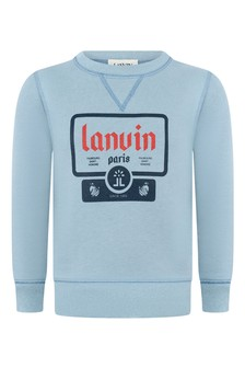 Boys Slate Blue Organic Cotton Sweater