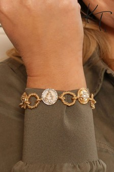 Kate Thornton 'Night Sky' Gold Tone Charm Bracelet