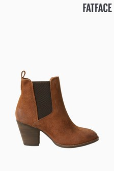 Fatface Brown Calow Chelsea Heel Boots