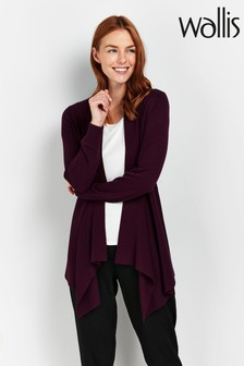 Wallis Wool Mix Dip Hem Cardigan