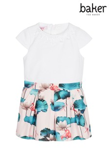 baker by Ted Baker Pink Bow Detail Lily Mockable Playsuit