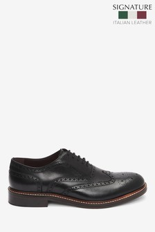 Signature Leather Brogue Shoes