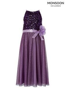 Monsoon Purple Truth Maxi Dress