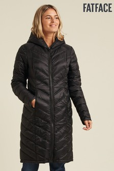 FatFace Black Louisa Longline Padded Jacket